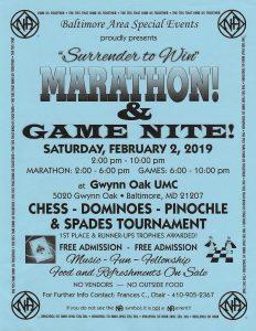 Marathon and Game Night @ Gwynn Oaks Methodist Church  |  |  |