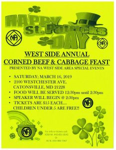Westside Special Events St Patrick's Day @ Trinity United Methodist | Catonsville | Maryland | United States