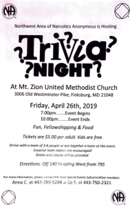 NW Trivia Night @ Mt. Zion United Methodist Church | Finksburg | Maryland | United States
