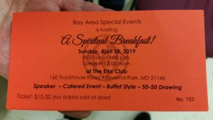 A Spiritual Breakfast @ Elks Club | Severna Park | Maryland | United States