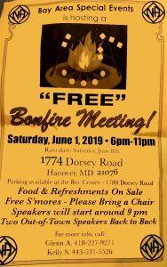Bay Area Bonfire Meeting @ Dorsey Road | Hanover | Maryland | United States