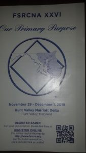Free State Region Convention of Narcotics Anonymous @ Hunt Valley Marriott Delta Hotel | Cockeysville | Maryland | United States