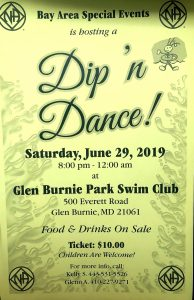 Bay Area Dip'n Dance! @ Glen Burnie Park Swim Club | Glen Burnie | Maryland | United States