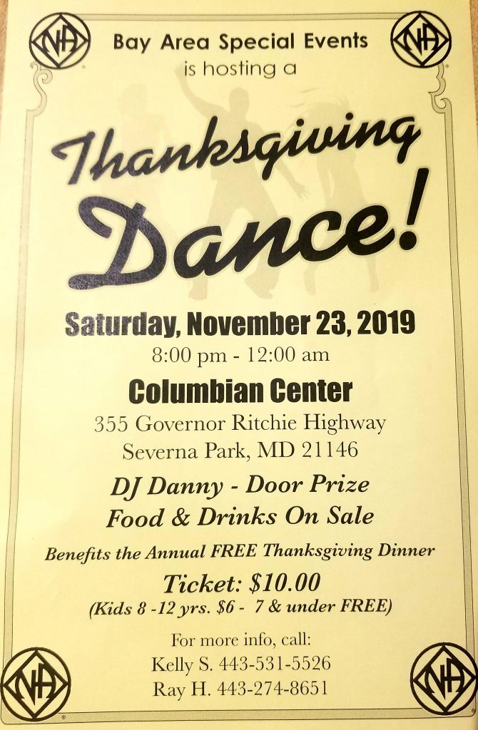 Bay Area Thanksgiving Dance @ Columbian Center | Severna Park | Maryland | United States