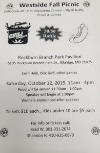 Westside Fall Picnic @ Rockburn Branch Park Pavilion | Elkridge | Maryland | United States