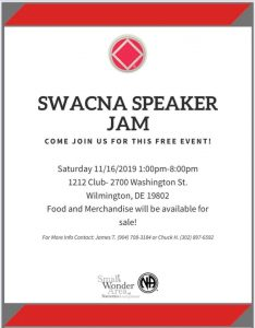 SWCNA Speaker Jam @ 1212 Club | Wilmington | Delaware | United States