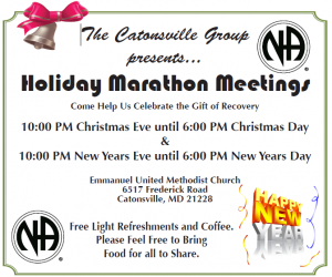 Holiday Marathon Meetings @ Emmanuel United Methodist Church | Catonsville | Maryland | United States