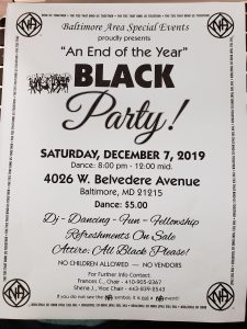 An End of the Year Black Party @ Dance Klinique Inc. | Baltimore | Maryland | United States