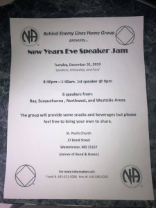 Behind Enemy Lines Group New Years Eve Speaker Jam @ St. Paul's Church | Westminster | Maryland | United States