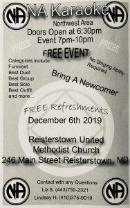 NA Karaoke @ Reisterstown United Methodist Church | Reisterstown | Maryland | United States