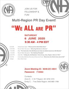 """ We ALL are PR"" Multi-Region PR Day Event @ Online (ZOOM) ID: 9249-251-6841 Password: 710064 