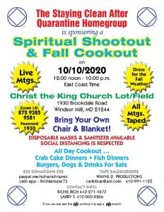 Spiritual Shootout & Fall Cookout @ Christ the King Episcopal Church Lot / Field | Woodlawn | Maryland | United States