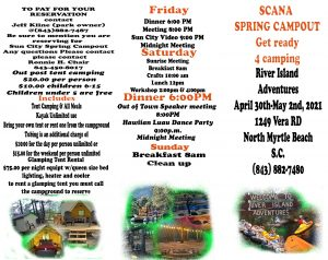 SCANA Spring campout @ SCANA Sun City Area NA Spring campout | Longs | South Carolina | United States