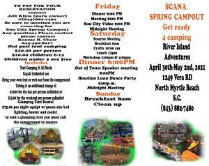 SCANA Spring campout @ SCANA Sun City Area NA Spring campout   Longs   South Carolina   United States