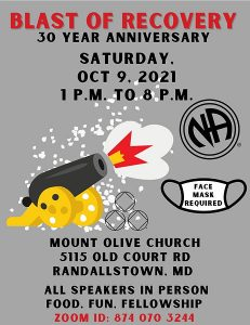 BLAST OF RECOVERY 30 YEAR ANNIVERSARY (Hybrid) @ MOUNT OLIVE CHURCH | Randallstown | Maryland | United States