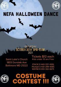 NEFA Halloween Dance Dundalk MD @ Saint Luke's Church | Baltimore | Maryland | United States