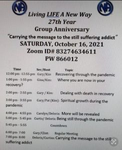Living Life a New Way 27th Year Anniversary